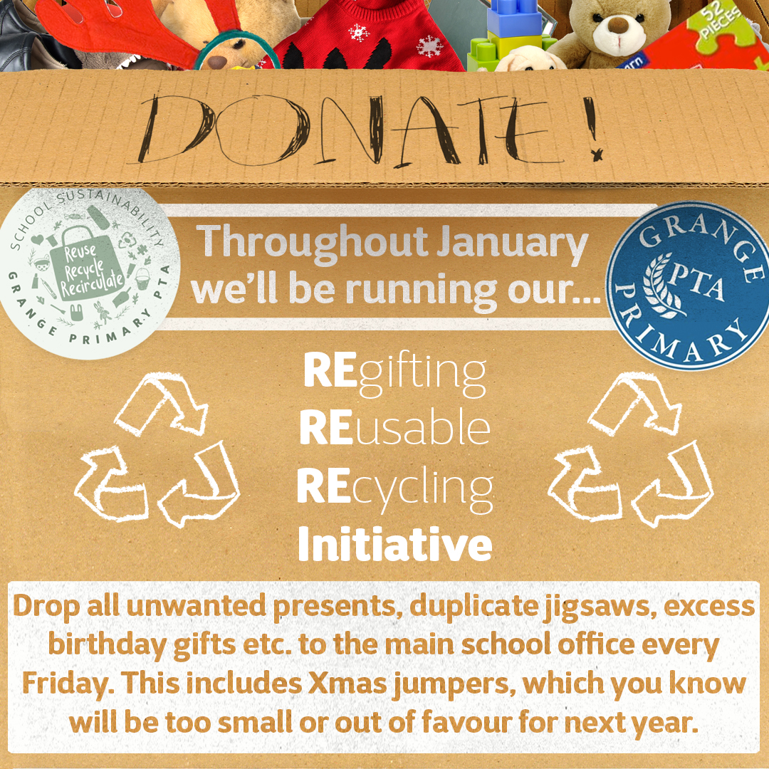RE-gift, RE-use, RE-cycle January