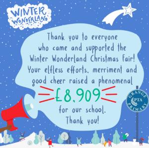 Winter Wonderland – £8909 raised!