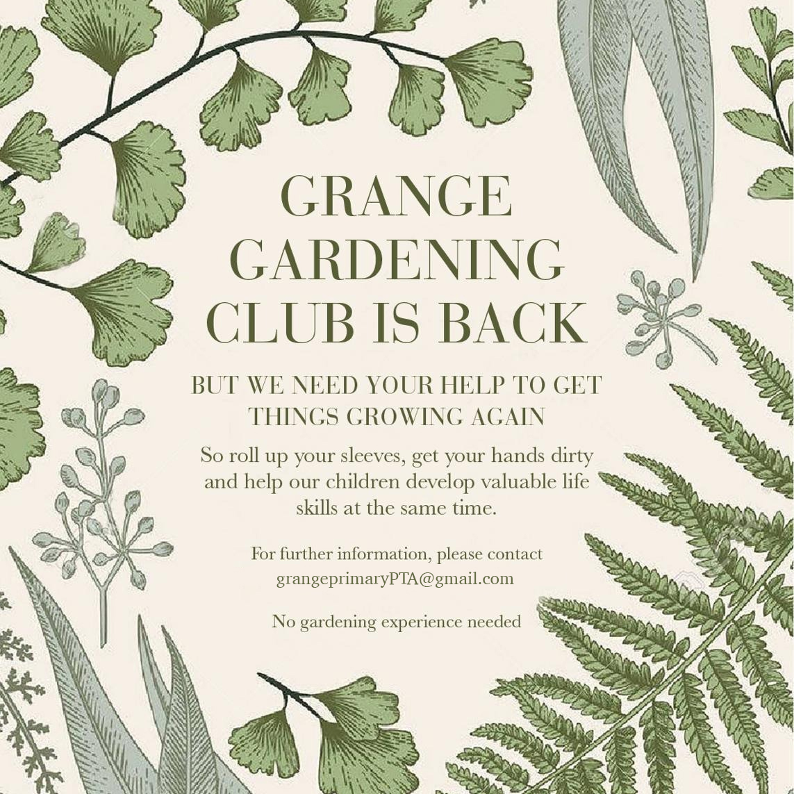 Gardening club is back!