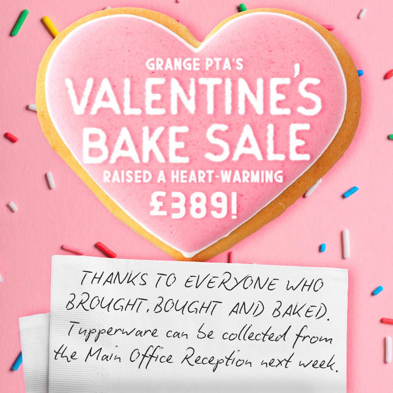 Bake sale raises a heart warming £389