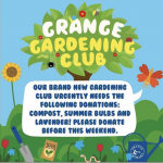 Gardening club – donations needed!