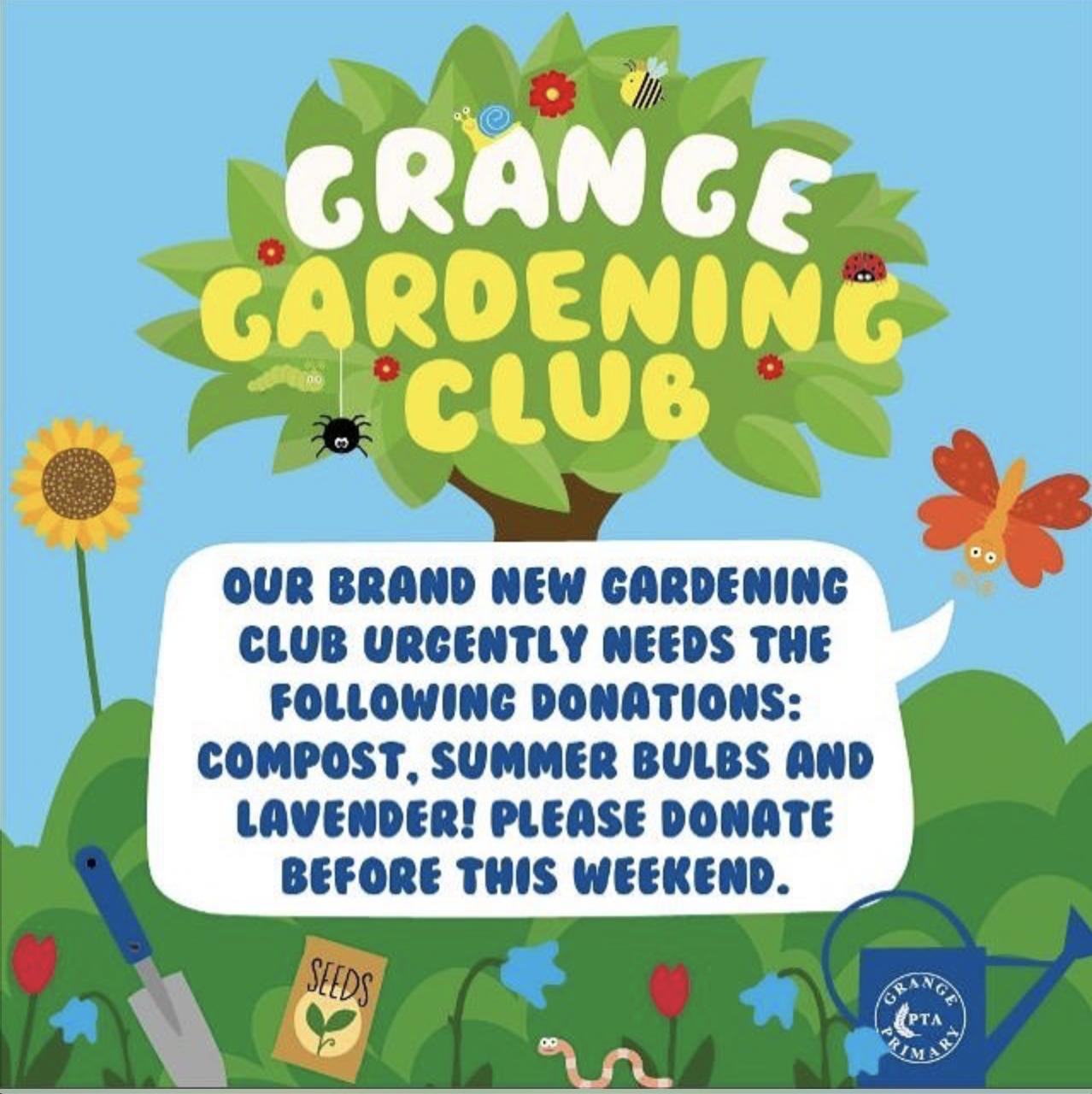 Gardening club – donations needed!