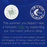 Second hand school uniform sale raises nearly £400!