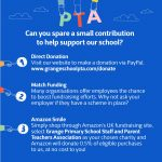 Help the PTA support the school