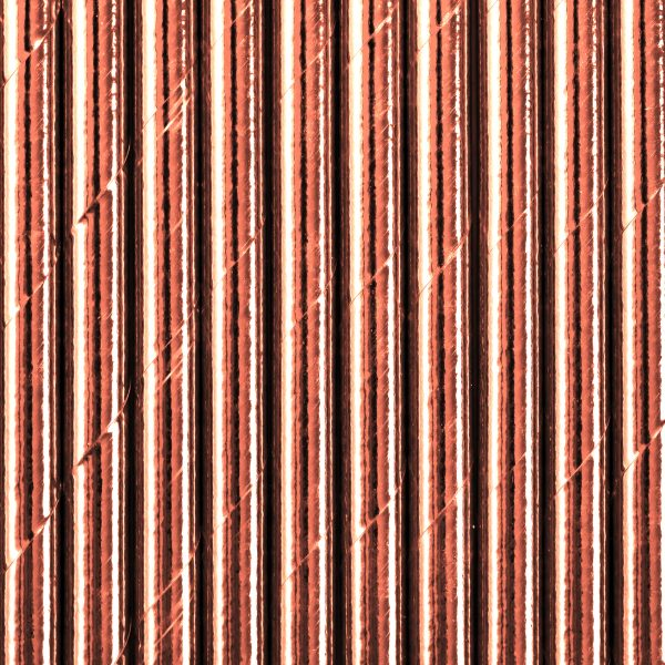 Rose Gold Paper Straws