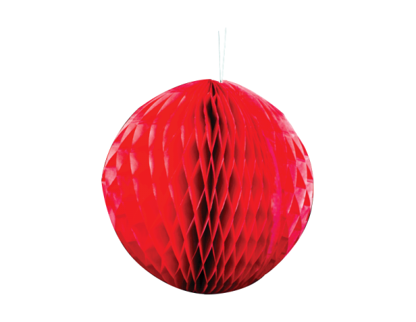 Large red paper bauble