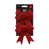 2 pack of large red bows