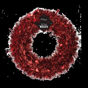 RED CHRISTMAS WREATH 28CM