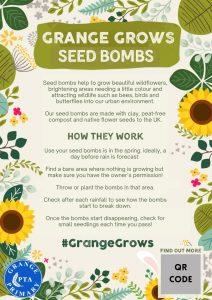Grange Grows Seed Bombs!
