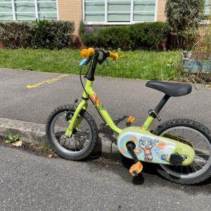 Lime green toddlers bike