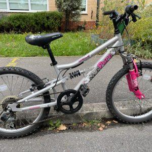 Apollo pure silver/pink bike